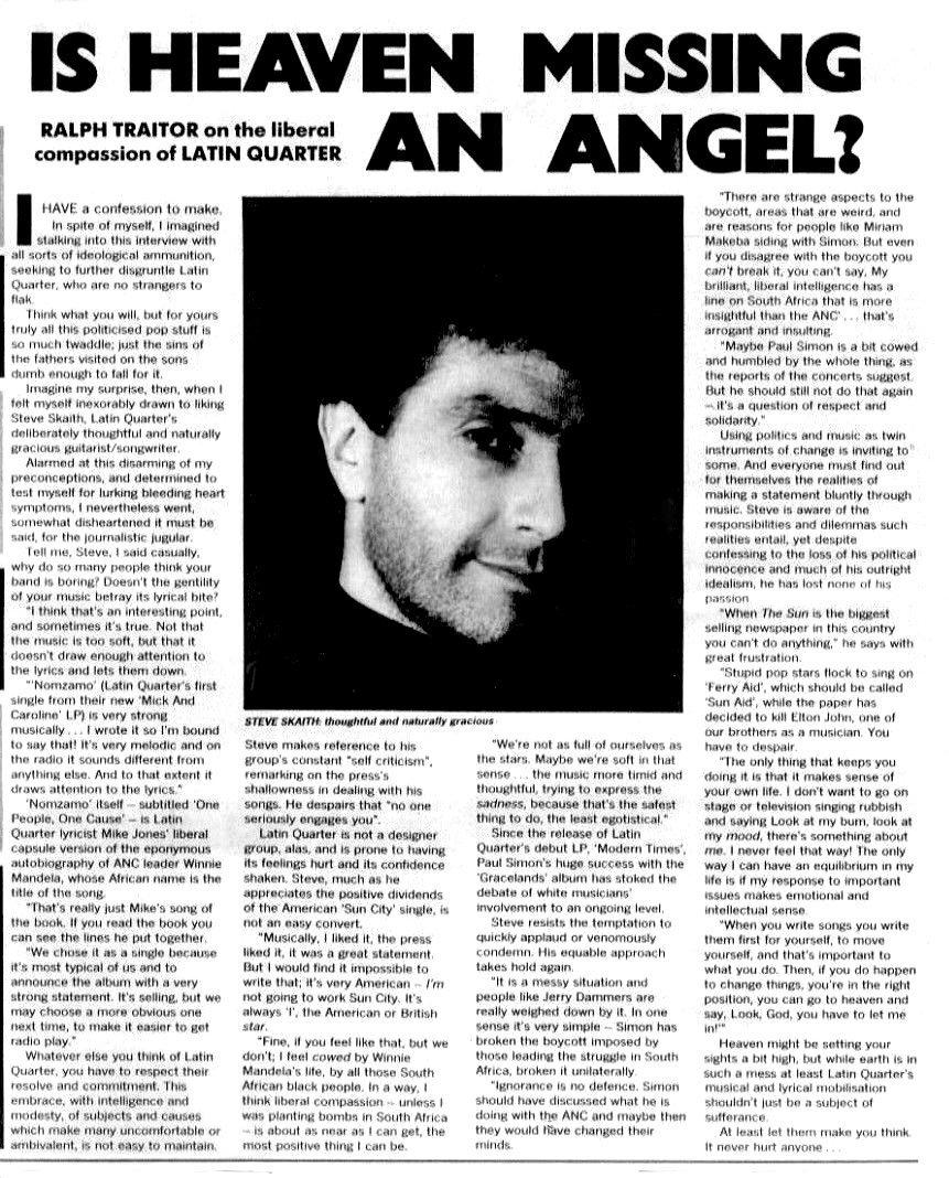 Latin Quarter - Is Heaven Missing An Angel?
